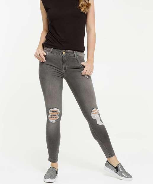 Image_Calça Skinny Destroyed Feminina Uber Jeans