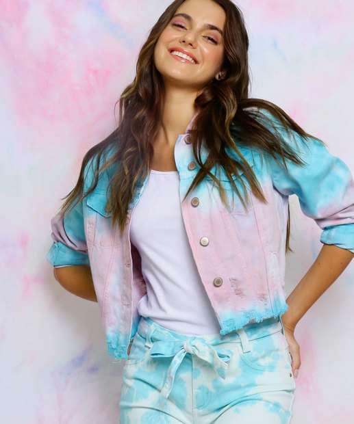 Image_Jaqueta Feminina Sarja Destroyed Estampa Tie Dye