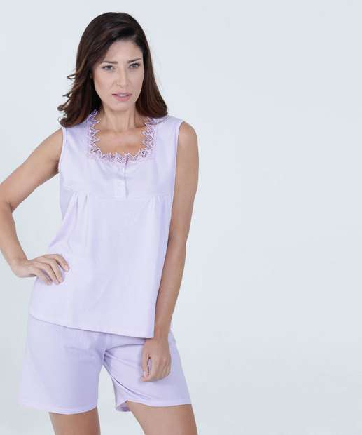Image_Pijama Feminino Short Doll Renda Marisa