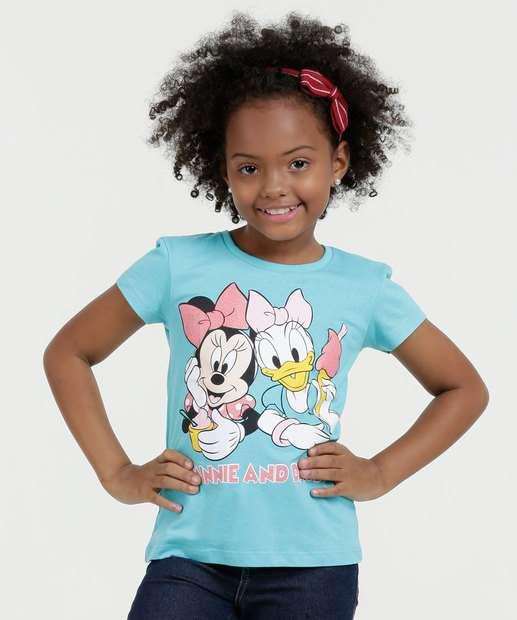Image_Blusa Infantil Minnie Margarida Manga Curta Disney