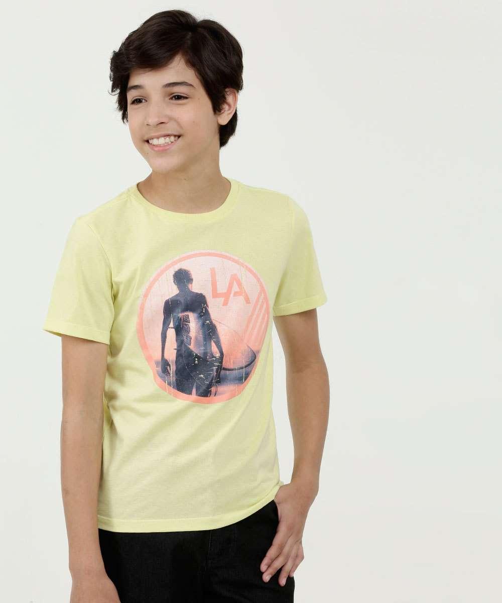 Camiseta Juvenil Estampa Frontal Manga Curta MR