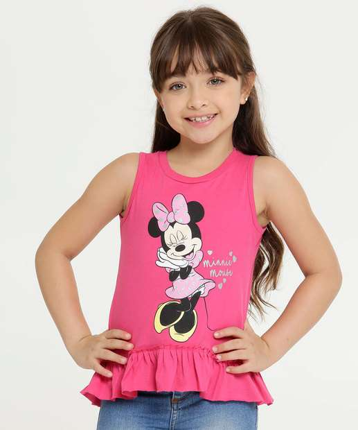 Image_Blusa Infantil Estampa Minnie Babado Sem Manga Disney