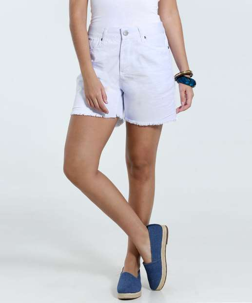 Image_Bermuda feminina em jeans desfiado Marisa