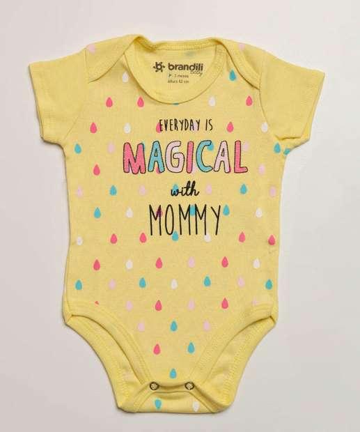 Image_Body Infantil Bebê Estampa Frontal Manga Curta Brandili
