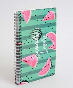 Caderneta Anotações Semanais Estampa Melancia Marisa