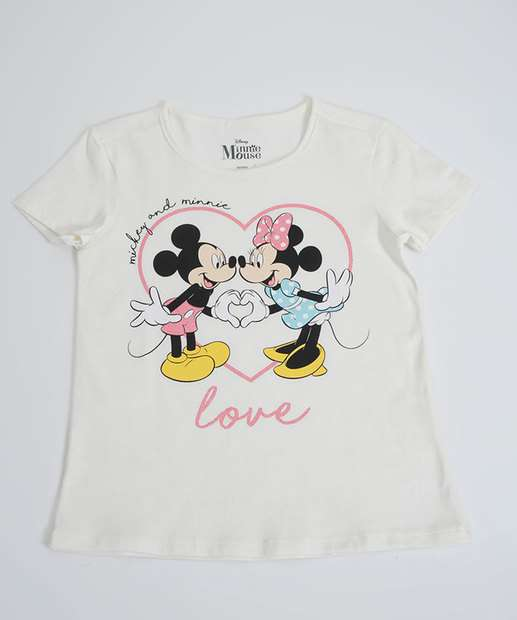 Image_Blusa Infantil Estampa Minnie Mickey Manga Curta Disney