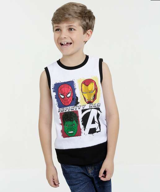 Image_Regata Infantil Estampa Os Vingadores Marvel