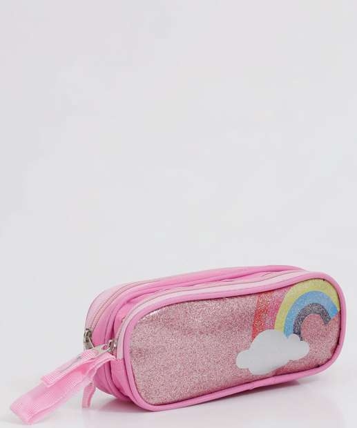 Image_Estojo Escolar Infantil Arco íris Glitter Clio