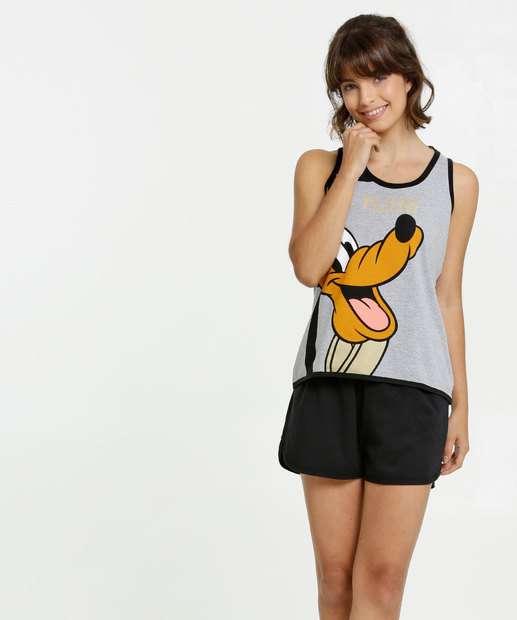 Image_Pijama Feminino Estampa Pluto Sem Manga Disney