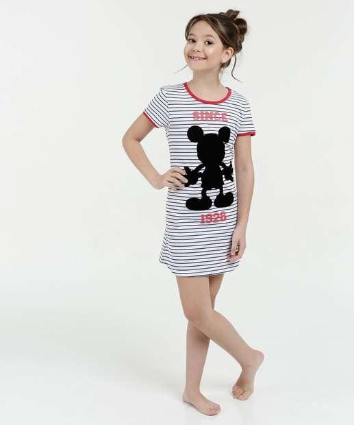 Image_Camisola Infantil Listrada Estampa Mickey Manga Curta Disney