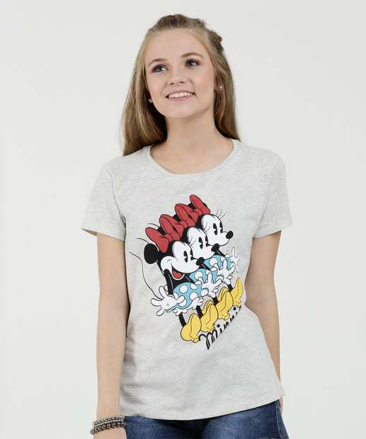 Image_Blusa Juvenil Estampa Frontal Minnie Manga Curta Disney