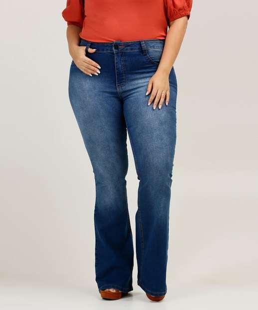 Image_Calça Plus Size Feminina Jeans Flare Biotipo