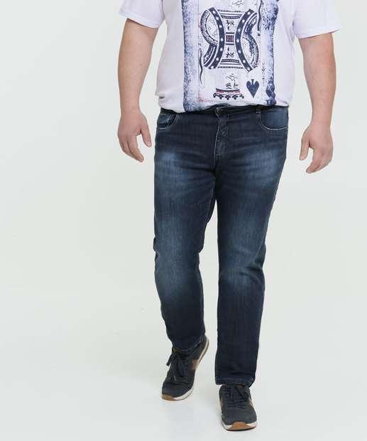Image_Calça Masculina Reta Jeans Stretch Plus Size