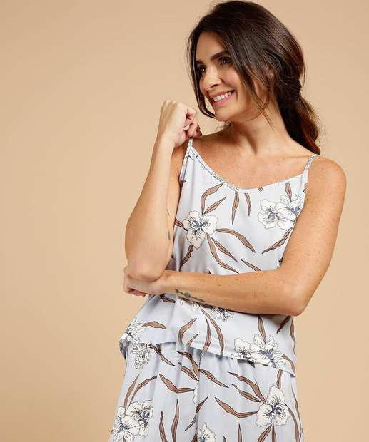Image_Pijama Feminino Estampa Floral Viscose Alças Finas