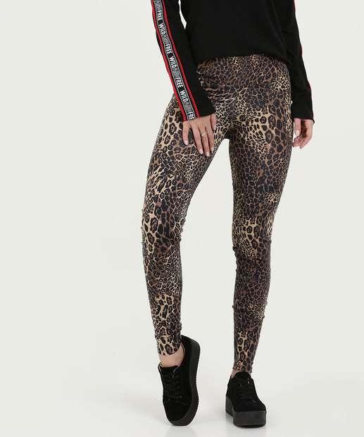 ff8f5541b Calça Feminina Legging Estampa Animal Print Gups