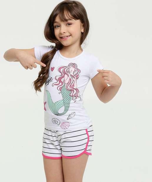 Image_Conjunto Infantil Estampa Sereia Manga Curta