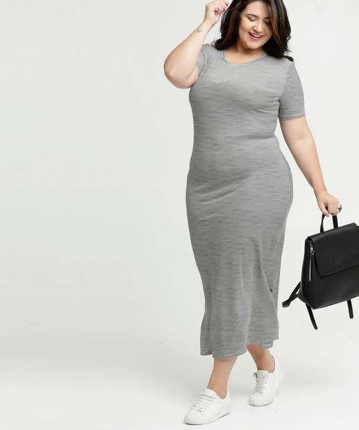 Image_Vestido Feminino Longo Listrado Plus Size Costa Rica