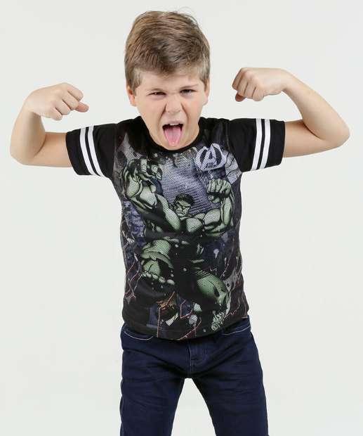 Image_Camiseta Infantil Hulk Tela Manga Curta Marvel