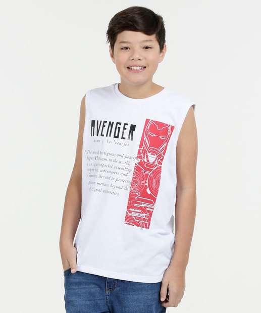 Image_Regata Juvenil Estampa Homem de Ferro Marvel