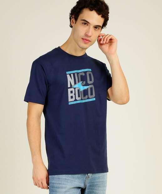 Image_Camiseta Masculina Recorte Estampado Manga Curta Nicoboco