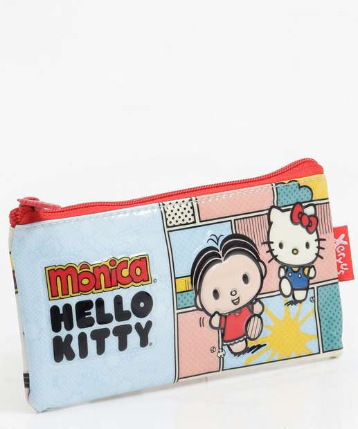 Image_Estojo Escolar Infantil Estampa Hello Kitty Monica Xeryus