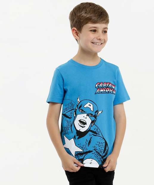Image_Camiseta Infantil Estampa Capitão América Marvel