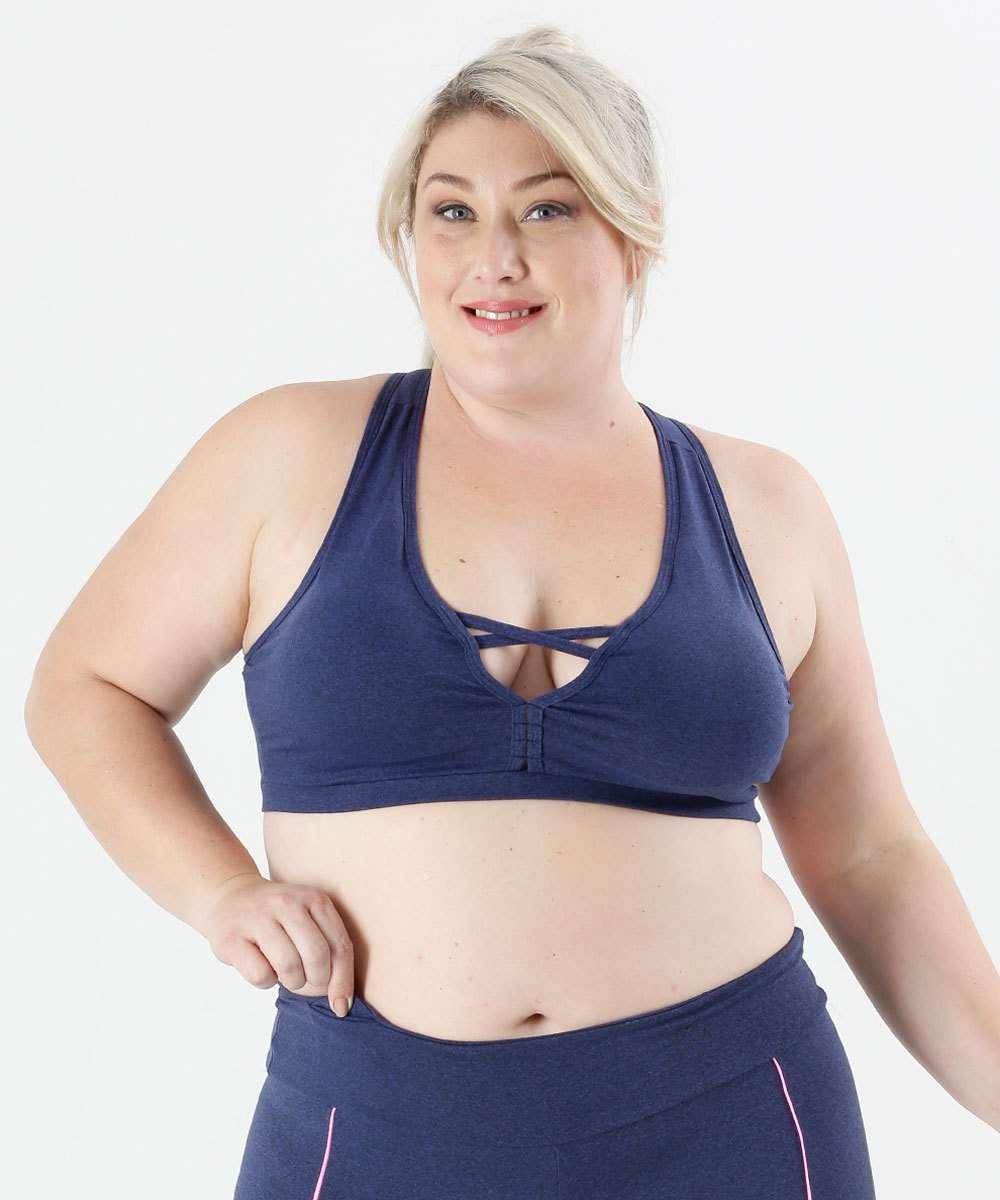 Image_Top Feminino Tiras Bojo Plus Size Fitness Marisa