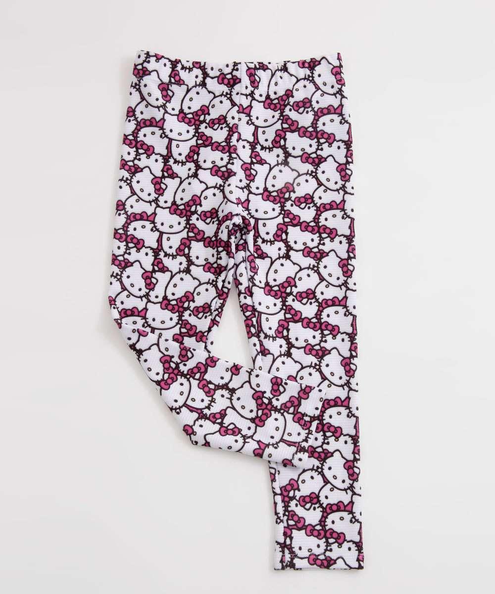 Calça Infantil Legging Estampa Hello Kitty Sanrio