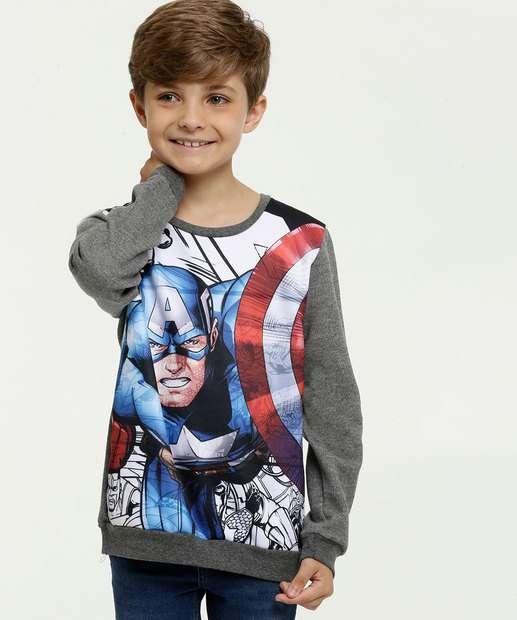 Image_Blusão Infantil Moletom Estampa Capitão América Marvel