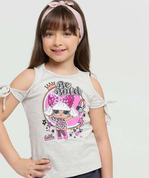 Image_Blusa Infantil Open Shoulder Boneca Paetês LOL
