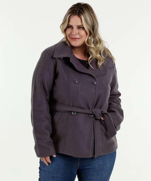 Image_Casaco Feminino Trench Coat Soft Plus Size Marisa