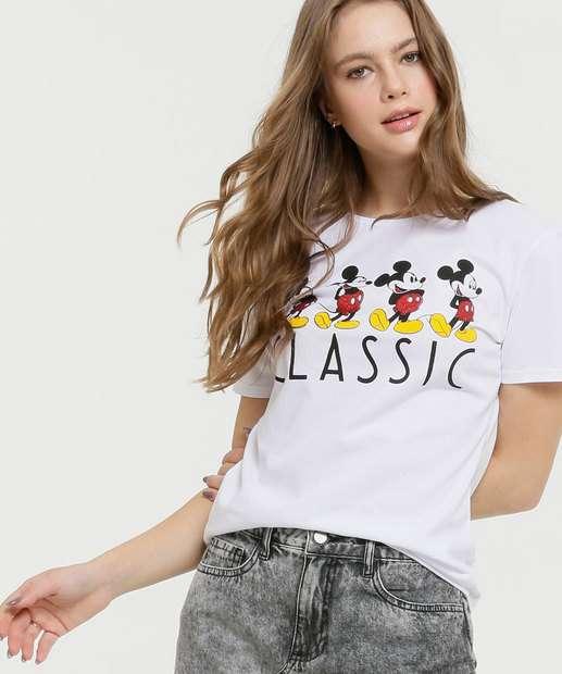 Image_Blusa Feminina Estampa Mickey Manga Curta Disney