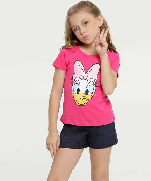 Image_Conjunto Infantil Estampa Margarida Manga Curta Disney
