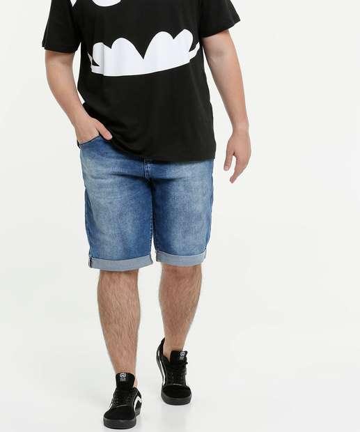 Image_Bermuda Masculina Jeans Barra Dobrada Plus Size Biotipo