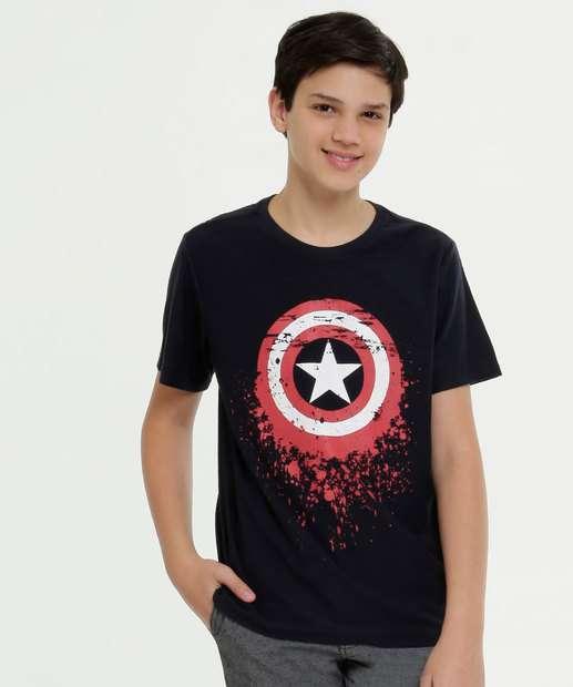 Image_Camiseta Juvenil Estampa Capitão América Manga Curta Marvel