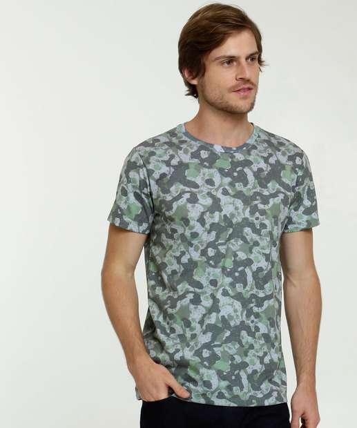 Image_Camiseta Masculina Camuflada Manga Curta Rock & Soda
