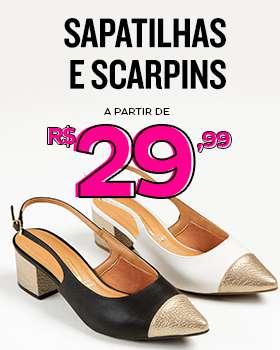Sapatilhas e scaripns à partir de R$29,99