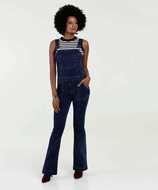 Image_Jardineira Feminina Jeans Flare Stretch Marisa
