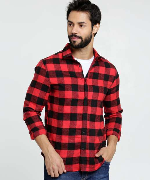 Image_Camisa Masculina Flanelada Estampa Xadrez MR