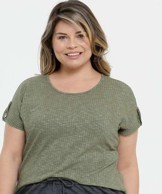 Image_Blusa Plus Size Feminina Canelada Lecimar