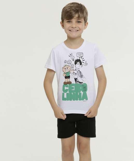 Image_Pijama Infantil Estampa Turma da Mônica Manga Curta