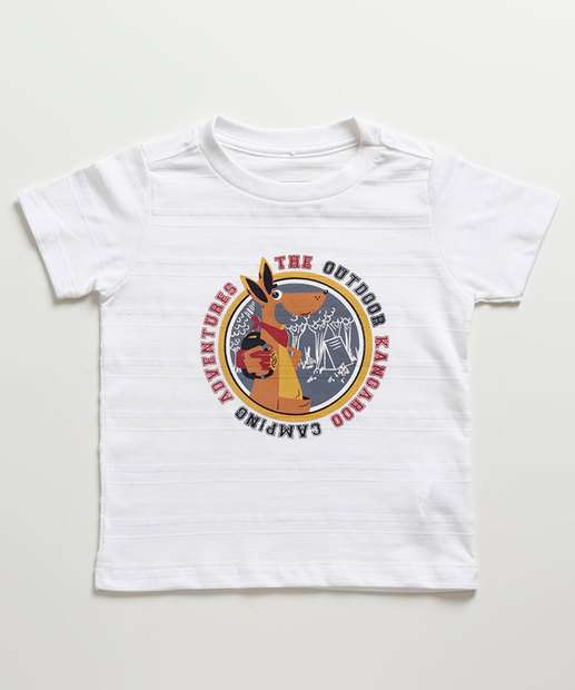 Image_Camiseta Infantil Estampa Canguru Manga Curta MR