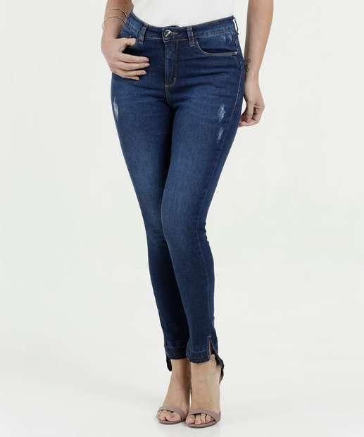 Image_Calça Feminina Jeans Skinny Puídos Razon