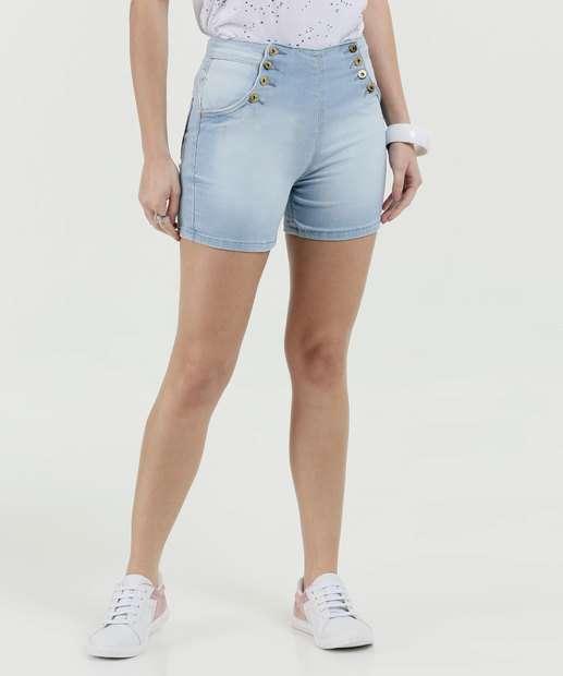 Image_Short Feminino Jeans Botões Cintura Alta Biotipo
