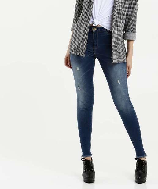 Image_Calça Feminina Jeans Skinny Puídos Sawary