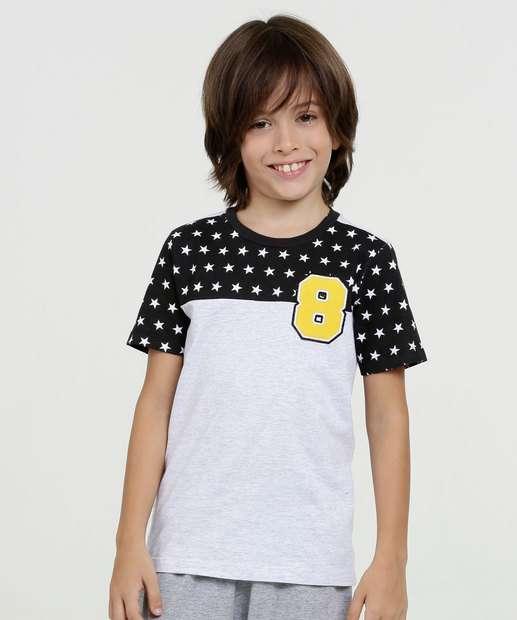 Image_Camiseta Infantil Estampa Estrelas Manga Curta MR