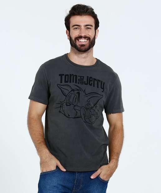 Image_Camiseta Masculina Tom e Jerry  Manga Curta Warner Bros