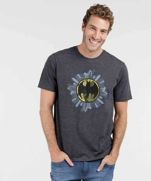 Image_Camiseta Masculina Batman Manga Curta Liga da Justiça