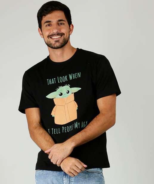 Image_Camiseta Masculina Baby Mestre Yoda Manga Curta Disney