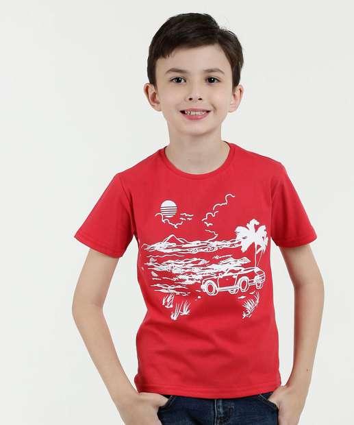 Image_Camiseta Infantil Estampa Paisagem Manga Curta Marisa